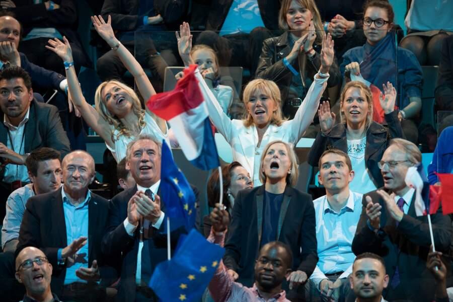 La fiesta dans les gradins de Bercy pour les Macron