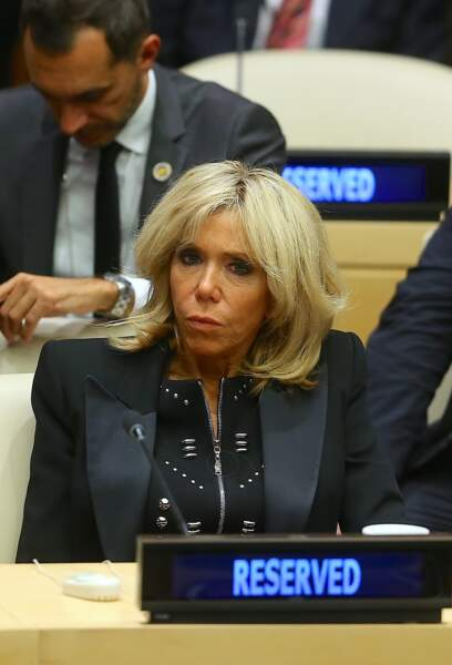 "Brigitte Macron assiste au débat ""Education for All"" au siège des Nations Unies à New York le 20 septembre 2017"