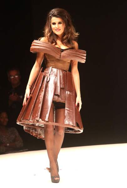 Karine Ferri au défilé du Salon du Chocolat en 2011 à Paris