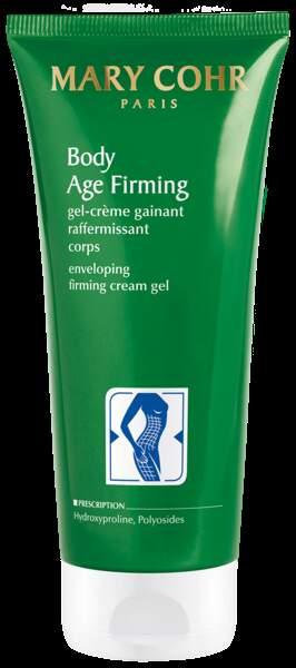 Gel-crème gainant et raffermissant Body Age Firming de Mary Cohr, 48€.