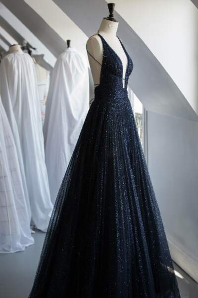 Impériale, cette robe Dior Haute-Couture est une pièce extraordinaire, pour une Chiara Ferragni sublime.