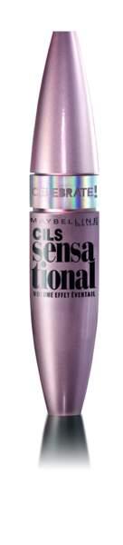 Gemey-Maybelline, Mascara Cils sensationnal Celebrate, 9,90€