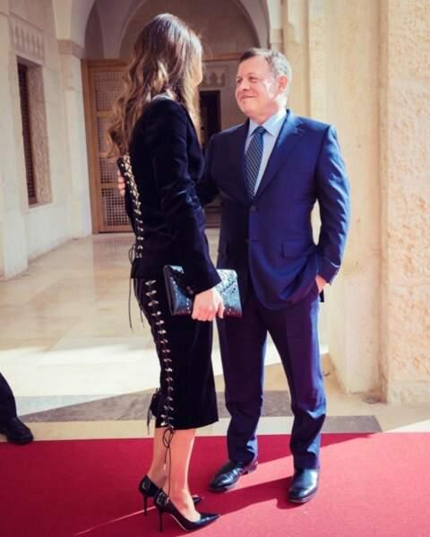 La reine Rania de Jordanie et son époux