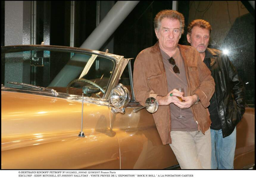 Eddy Mitchell et Johnny Hallyday en 2007