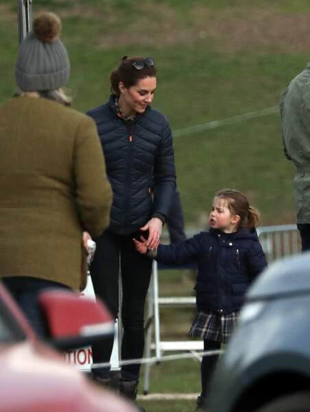 Catherine Kate Middleton, duchesse de Cambridge, , la princesse Charlotte lors d'une après-midi en famille