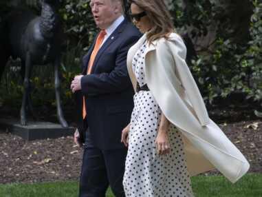 Melania Trump s'inspire de Kate Middleton dans une très chic robe à pois