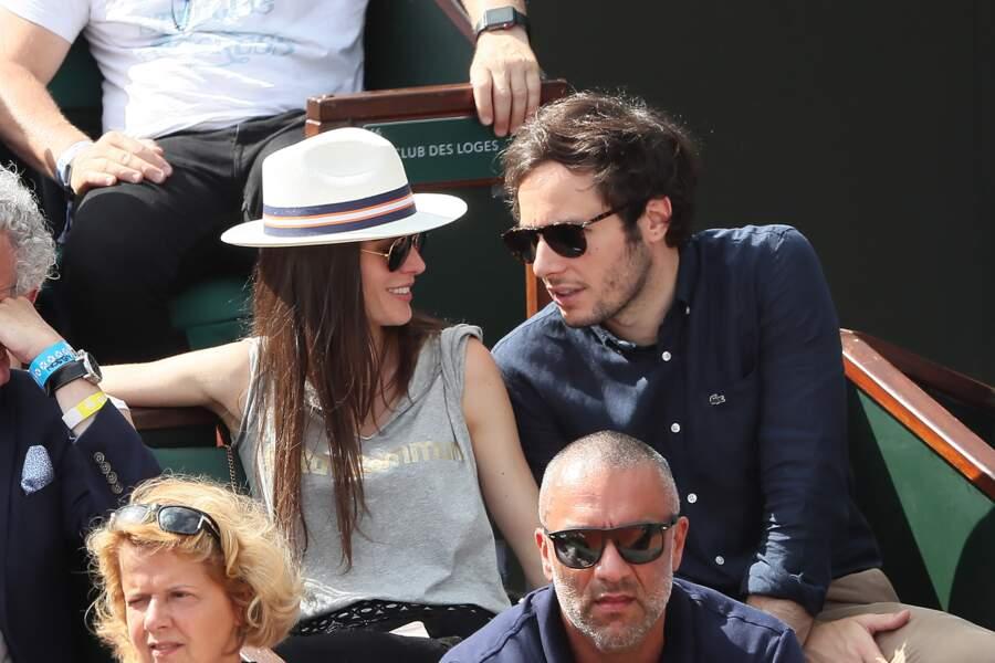 Le chanteur Vianney et sa compagne Catherine Robert amateurs de tennis