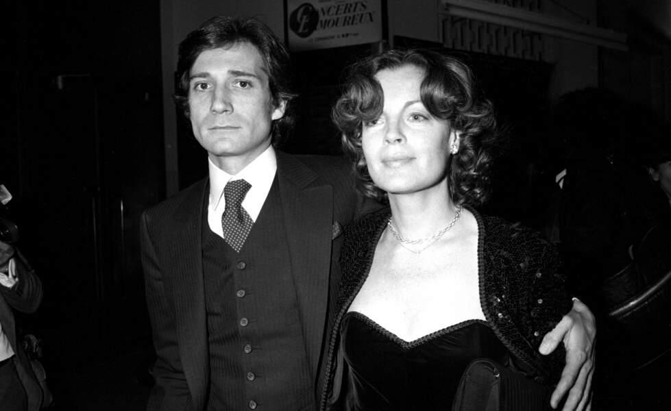 Daniel Biasini et Romy Schneider lors de la cérémonie des César en 1980