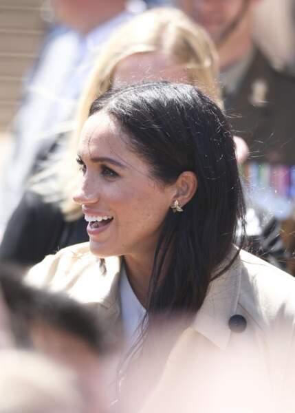 Meghan Markle avec les mêmes boucles d'oreilles papillon à Sydney en 2018