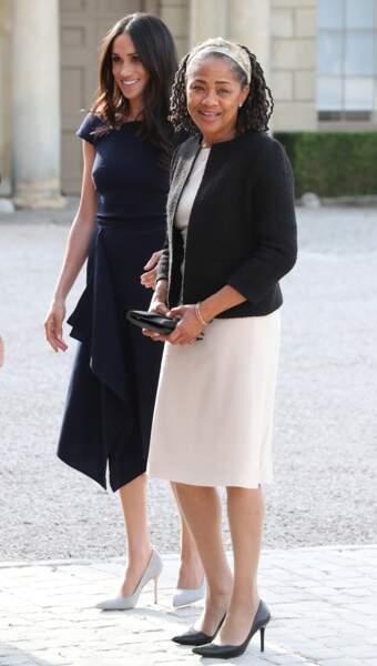 Meghan Markle et sa mère Doria Ragland au Cliveden House