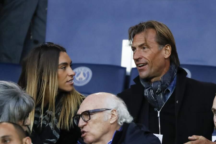 Hervé Renard et sa fille Candide le 18 novembre 2017