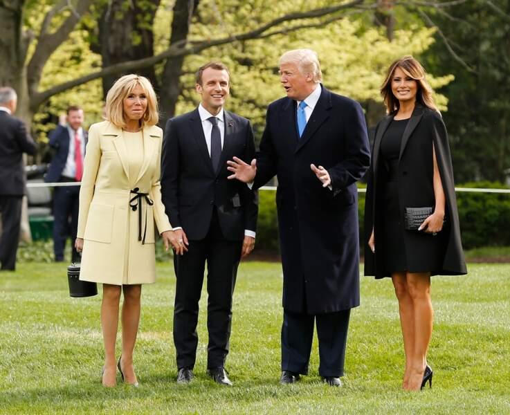 Lorsqu'elles se retrouvent, Brigitte Macron et Melania Trump ont toujours le sourire