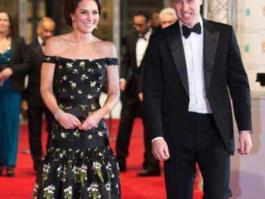 Le prince william et Kate Middleton, les épaules nues aux Bafta awards