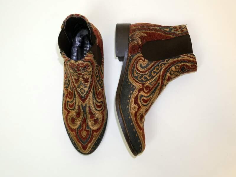 Ces bottines brodées bohèmes signées Claudie Pierlot portées par Jenifer sont aux enchères !
