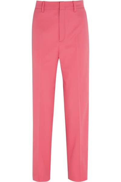 Pantalon coupe droite en laine et soie mélangées stretch, Gucci - 690€