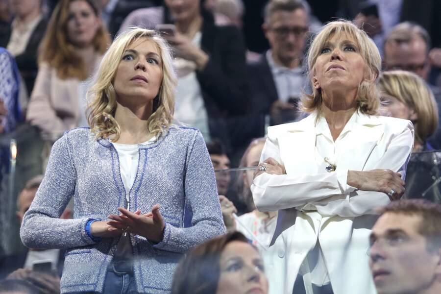 C'est une des toutes premières fois que l'on aperçoit Laurence, l'aînée de Brigitte Macron…