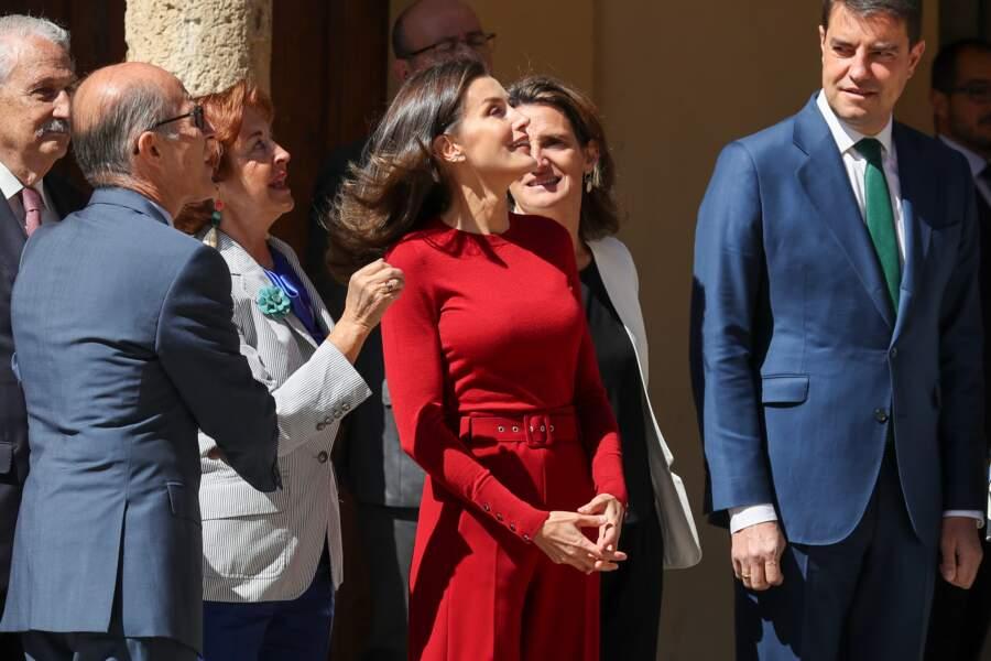 Letizia d'Espagne était une nouvelle fois très chic en total look rouge