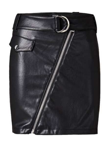 Glam, jupe zippée et ceinturée, 79,70 € (Guess).