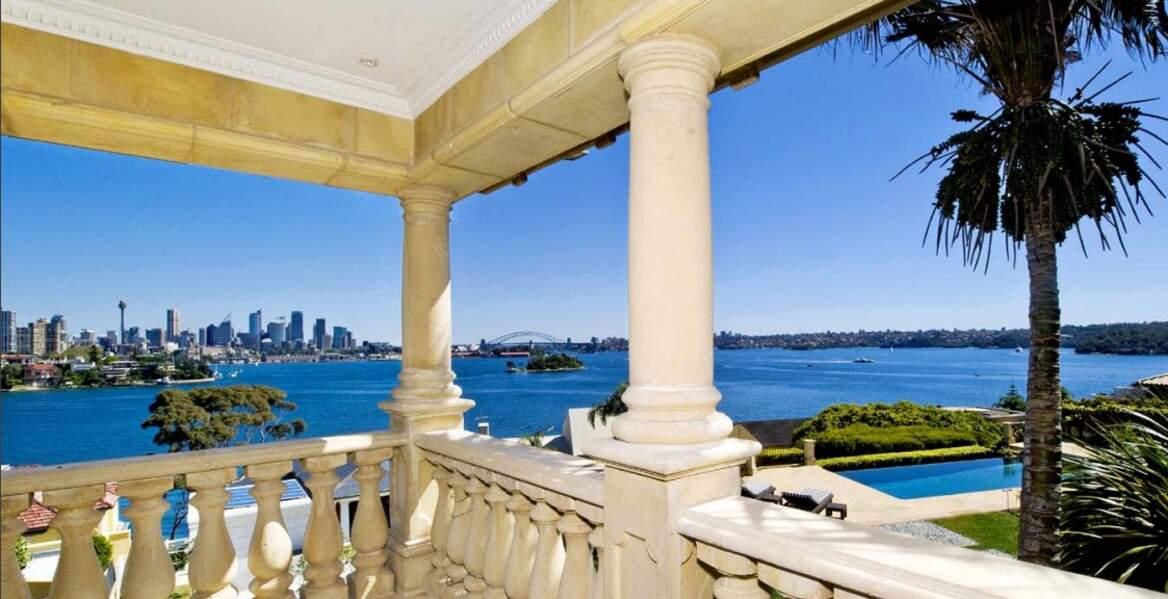La vue depuis le balcon de la résidence de Meghan Markle et du prince Harry en Australie