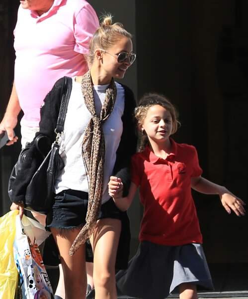 Nicole Richie avec sa fille Harlow Madden à Los Angeles, en 2016