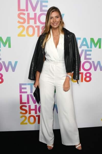 """Camille Cerf (Miss France 2015) lors du """"Etam Live Show"""", le 25 septembre 2018 à Paris"""