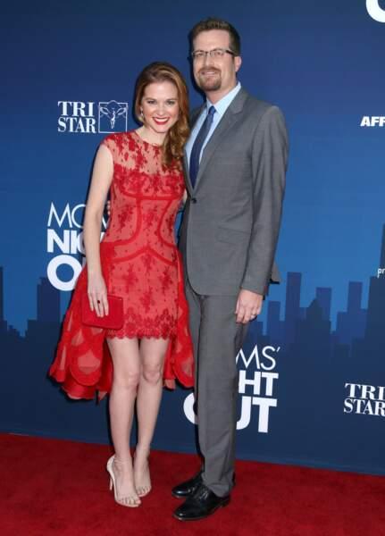 Sarah Drew et son mari Peter Lanfer le 30 avril 2014