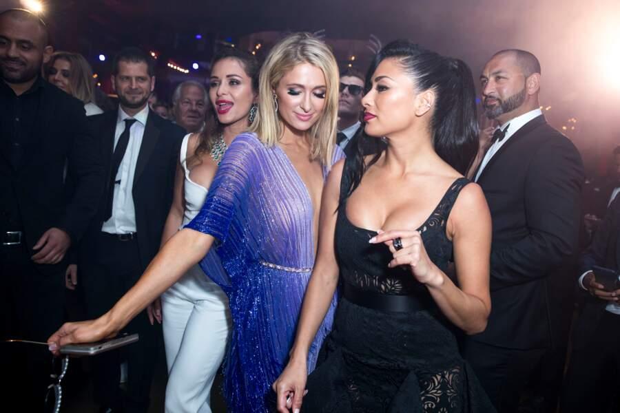 Nicole Scherzinger et Paris Hilton lors de la soirée du 25ème anniversaire de De Grisogono