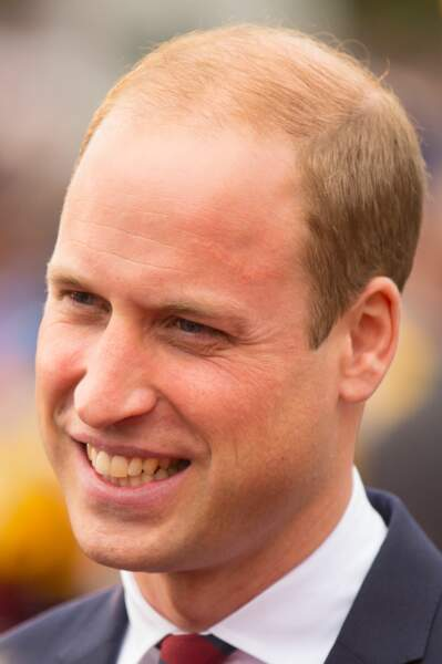 2016 : le prince William a 34 ans assume sa calvitie