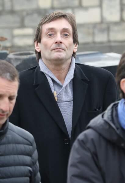 Pierre Palmade lors des obsèques de Véronique Colucci