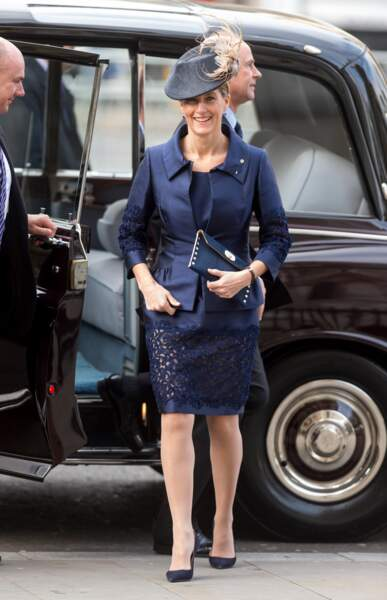 Sophie Rhys-Jones, comtesse de Wessex au Westminter Abbaye, Londres, le 24 novembre 2016