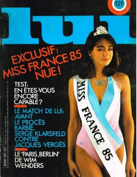 Il y a 30 ans, la Miss France Isabelle Chaudieu en faisait déjà voir de belles à la dame au chapeau.