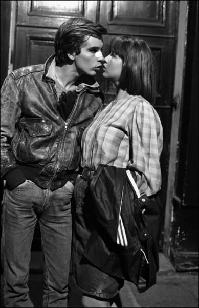 Son premier baiser donné à Pierre Cosso dans la Boum