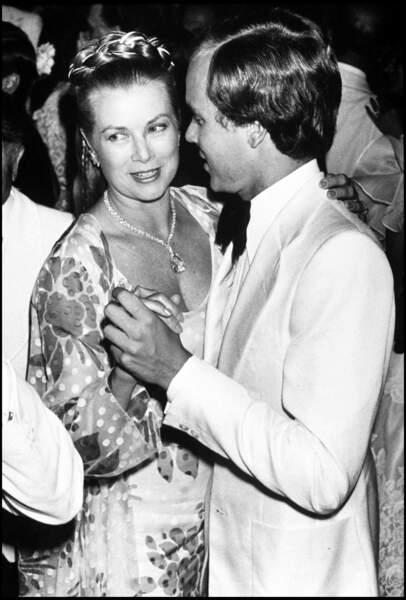Grace Kelly et son fils le prince Albert de Monaco