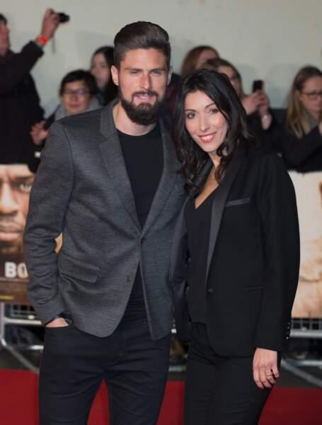 Olivier Giroud et son épouse Jennifer en novembre 2016