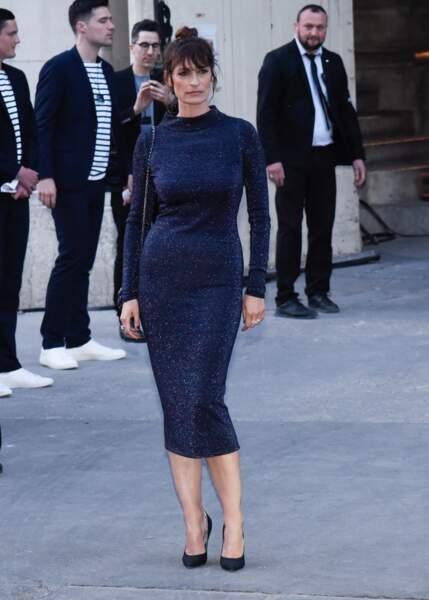 Caroline de Maigret, ambassadrice Chanel depuis de nombreuses années, ne rate pas un défilé
