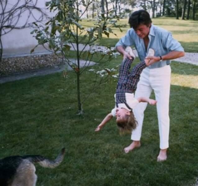 Anthony Delon avec son père Alain Delon