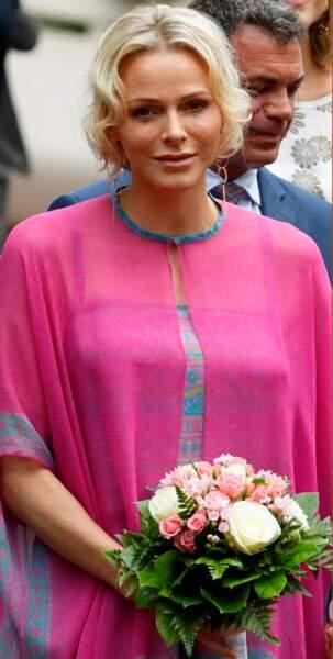 Charlène de Monaco a reçu un joli bouquet de fleurs