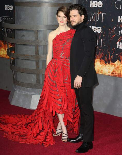 "Rose Leslie et son mari Kit Harington à la première de ""Game of Thrones - Saison 8"" au Radio City Music Hall à New"