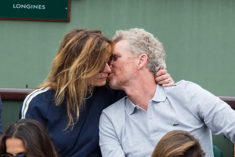 Denis Brogniart et sa femme Hortense à Roland Garros le 29 mai 2018