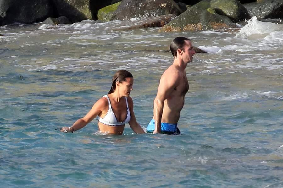 Pippa Middleton et son mari James Matthews à Saint-Barth