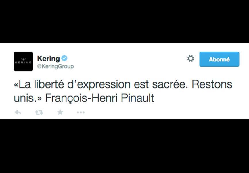 """François-Henri Pinault - """"La liberté d'expression est sacrée, restons unis"""""""