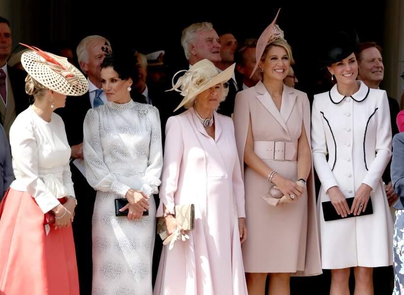 Sophie Rhys-Jones, Letizia d'Espagne, Camilla Parker Bowles, la reine Maxima et Kate Middleton