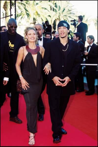Joey Starr et sa compagne au festival de Cannes en 2000