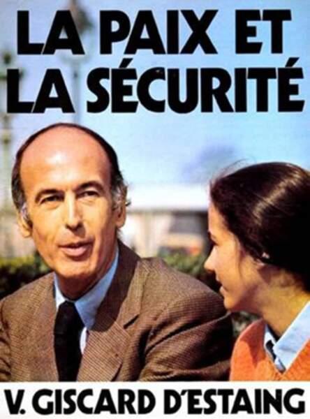 Jacinte sur l'affiche de VGE en 1974