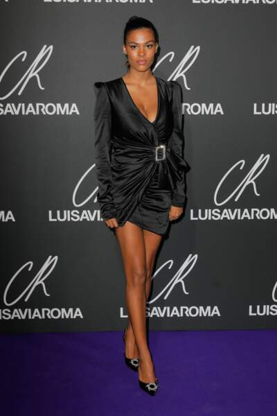 Tina Kunakey Cassel au lancement du 13ème CR Fashion Book de Carine Roitfeld en collaboration avec LuisaViaRoma
