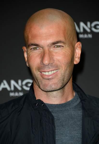 Zinédine Zidane lors du lancement de la ligne masculine Mango Man à Paris le 5 octobre 2015