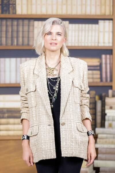 Cécile Cassel stylée en total look Chanel