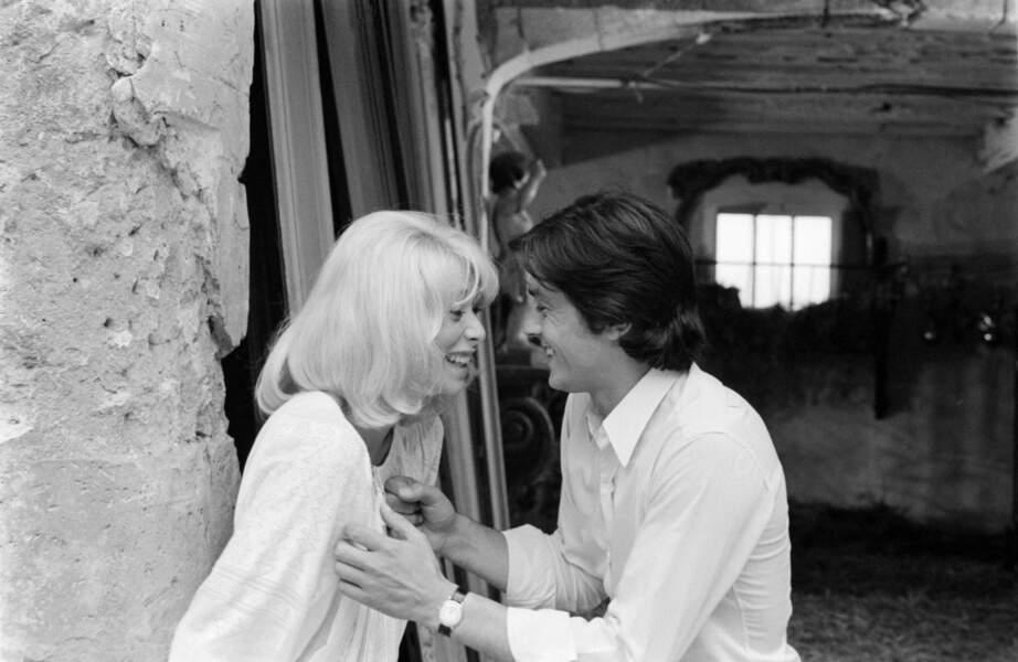 Alain Delon et Mireille Darc en 1970