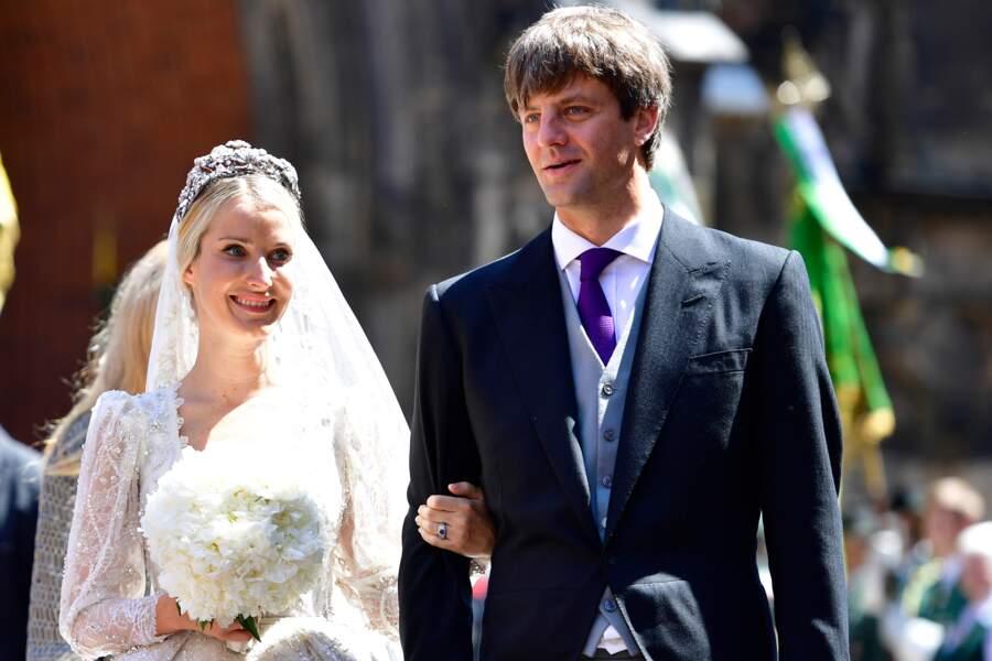 Le prince Ernst August Junior de Hanovre et son épouse Ekaterina, parents d'Elisabeth, née le 22 février 2018