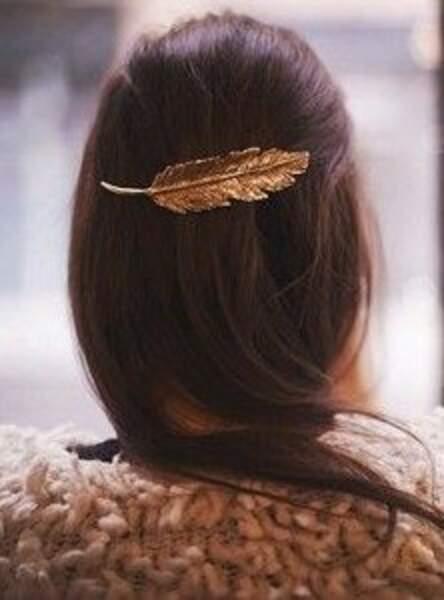 La barrette plume